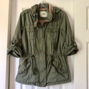 YMI versatile army green utility jacket L
